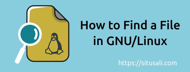 Contoh Dasar-Dasar Penggunaan Find Di GNU/Linux