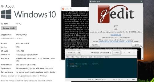 Menjalankan GUI dari Aplikasi GNU/Linux di Windows Subsystem Linux